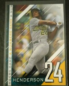 RICKEY HENDERSON 2020  TOPPS  A NUMBERS  GAME INSERT