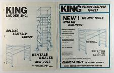 King Ladder Inc Rolling Scaffold Towers Vintage Advertising Brochures 1970s