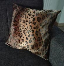 Kissenbezug, Kissenhülle 40x40 cm, Fellimitat Leopard, Dekokissen, Handarbeit
