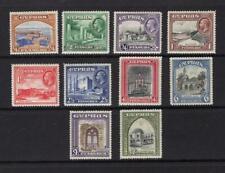 Cyprus 1934 Partial Set - OG MH - SC# 125-134  Cats $111.80