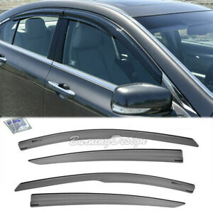 Tape On Visors For 09-14 Acura TL JDM MUGEN Style Side Vents Window Rain Guards