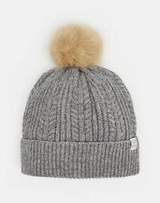 Joules 124976 Knitted Hat ONE in LIGHT GREY MARL in One Size