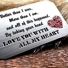 Gifts for him mens her valentines day mens Womens Love Romantic Engraved