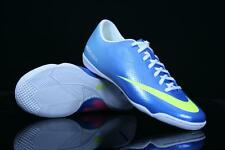 NIKE MERCURIAL VICTORY IV IC INDOOR SOCCER SHOES FOOTBALL Neptune Blue.