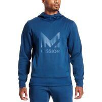 Mission Men's VaporActive Gravity Pullover Hoodie, Estate Blue, Large