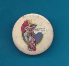 Australia Day Badge 1918 White Map