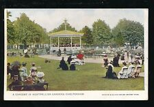 Glos Gloucestershire CHELTENHAM Montpellier Gdns Concert 1905 PPC