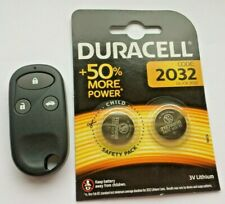 Fits Honda Civic CRV Jazz 3 Button Remote Key Fob Case & 2 x Duracell Batteries