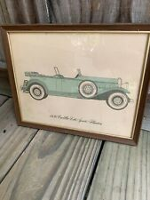 Vintage Picture of a 1930 Cadillac V-16 Sports Phaeton from a salesman's office