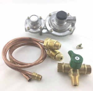 Caravan/Motorhome/RV LPG DuaL Stage Regulator with 2 x 500mm POL Copper Pipe&Tap