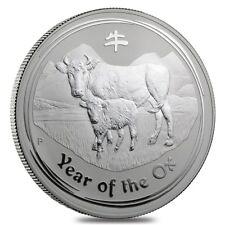 2009 1 Kilo Silver Lunar Year of The Ox BU Australian Perth Mint In Cap