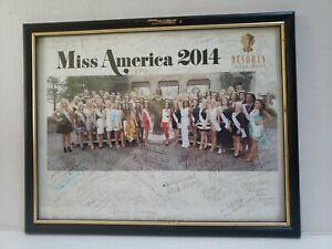 Miss America 2014 Signed 50 Contestant Signatures 8x10 Resorts Casino