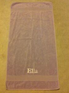 "Pottery Barn Kids Purple Bath Towel ""Ella"""