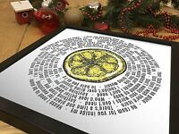 The Stone Roses 12 inch Vinyl LP Size Print | I am the resurrection Song Lyrics