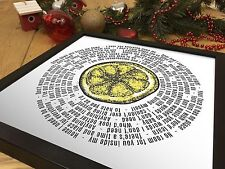 More details for the stone roses 12 inch vinyl lp size print | i am the resurrection song lyrics