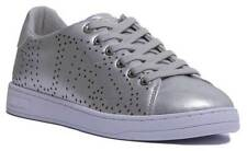 Guess A-Carterr Lace Up Trainer In Silver