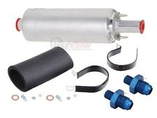 GENUINE WALBRO GSL392 & -8AN Fittings Kit Inline External Fuel Pump MADE IN USA!
