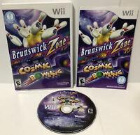 Nintendo Wii BRUNSWICK ZONE COSMIC BOWLING ! Complete w/Manual ! CIB !  🔥