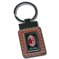 Porte-clés comme cuir avec étiquette logo MILAN en résine