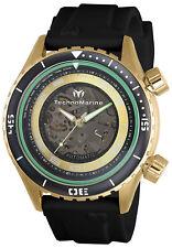 TechnoMarine Men's Manta TM-218005 47mm Black Dial Silicone Watch