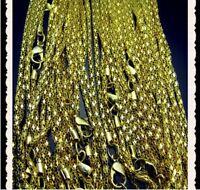 10 Stück 55 cm lang Schmuck vergoldet Gold Ketten Halsketten  NEU Restposten