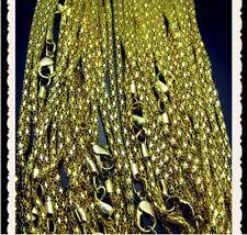 10 Stück 40 cm lang Schmuck vergoldet Gold Ketten Halsketten  NEU Restposten