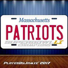 Patriots Superbowl License Plate