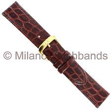 18mm Di Modell Tiffany Brown Croco Pattern Gen. Calfskin Stitched Watch Band XS