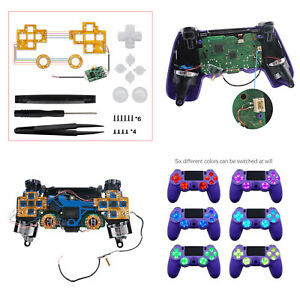 Light Board Handle Modification LED Modes for PS4 Wireless Controller with ABXY