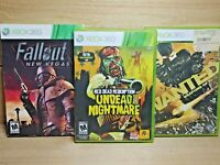 Xbox 360 Video Game Lot Red Dead Undead Nightmare Fallout New Vegas & Wanted CIB