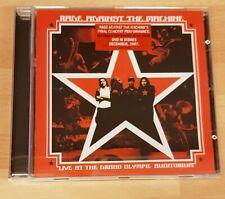 RAGE AGAINST THE MACHINE 'LIVE AT THE GRAND OLYMPIC AUDITORIUM' - CD ALBUM