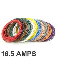 16.5 AMP Bewertete 1mm2 Dünnwandig Einadrig Kabel / Kabel - 11 Farbauswahl