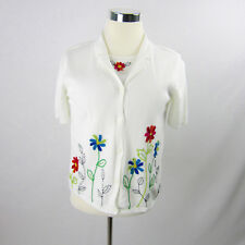 Alfred Dunner 2 Piece Attached Top and Cardigan Size Petite Very Pretty