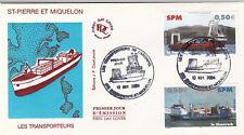 Enveloppe 1er Jour NAVIGATION BATEAU MER MIQUELON 10/11/2004 les transporteurs