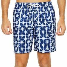 St. John's Bay Men's Swim Trunks Shorts Navy Geo Size XX-Large New
