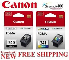 2-PACK Black 240 / 241 Color Ink Cartridges for Canon MG3620 Printer *GENUINE*