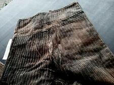 Hose, Breit- Cord, Schlaghose, Batik braun, XS, 152, extralang, Vintage