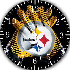 Pittsburgh Steelers Borderless Wall Clock Nice Gift or Home Wall Decor F07