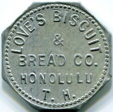 Hawaii, Honolulu - Love's Biscuit & Bread Co.  6c Bread  Token
