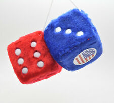 """USA"" Flag Fuzzy Dice Auto Mirror Car Accessory"