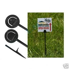 """50 16"""" Reusable Black Plastic Step Stakes for Lawn & Pesticide Yard Signs"""