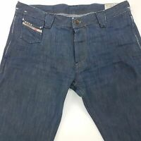 Diesel DEETAK Mens Jeans W33 L32 Dark Blue Regular Fit Straight High Rise