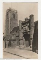 St. Peter's Church and Wolsey Gate Ipswich Real Photo Postcard, B455
