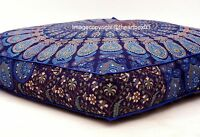 Mandala Indian Square Floor Cushion Pillow Case Seating Cover Pouffe Ottoman 35""