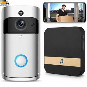 Türklingel mit Kamera WIFI HD WLAN Nachtsicht Video Funkklingel Ring Doorbell