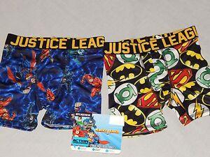 Boys Underwear Size S M Boxer Briefs Justice League Batman Superman Compression
