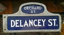 ORCHARD  DELANCEY framed porcelain NYC New York City street sign Lower East Side