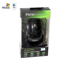 iHome Graphite Black Customizable Wireless Optical Mouse Mac - Microsoft Windows