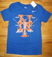 Nike Herren NEW YORK METS BASEBALL World Series T-shirt Small Blau Logo