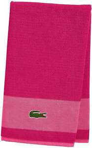 LACOSTE PINK MAGENTA BATH TOWEL 30 X 52 NEW